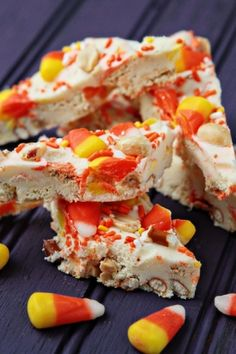 Candy Corn Oreo Cookie Bark ---I am so making this for my son and his family