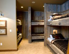Lake house bunk room.