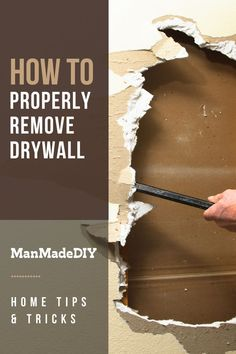 While it seems like this big, comprehensive job, removing drywall is actually quite easy. Here is a simple walkthrough that will leave you with a blank canvas to work with and less of a mess than you may have expected. // Drywall Tips // How to Remove Drywall // Drywall Removal // Blank Canvas, Drywall, Home Hacks, Simple, Tips, Easy, Modern, Trendy Tree, Gypsum
