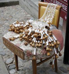 Bobbin lace work are traditional at Le Puy-en-Velay - Auvergne region, France      ...www.worldisround,com