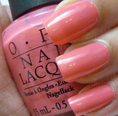 OPI 'Chapel of Love' - 2003 Las Vegas collection. Pink/coral with gold shimmer.