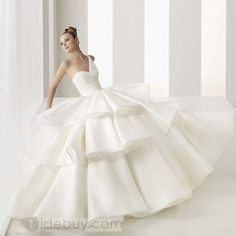 2011 NEW ARRIVAL Gorgeous One-Shoulder A-line/Princess Floor-length Tiered Wedding Dresses