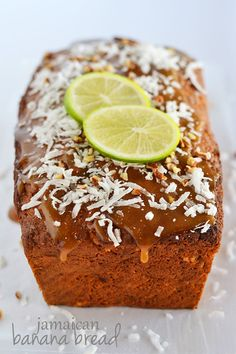 Bring the tropical flavors of banana, coconut, and lime to your kitchen with this Jamaican Banana Bread! Even though the ingredient list is long, this recipe is easy to make and soooo worth it! Jamaican Banana Bread Recipe, Jamaican Recipes, Lime Recipes, Banana Bread Recipes, Chocolates, Bread Kitchen, Caribbean Recipes, Caribbean Food, Quick Bread Recipes