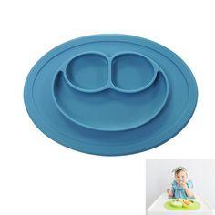 Health Food Grade Silicone Children Dinner Dish Plate Baby Feeding Bowl Slip Heat Resistant Fruit Food Bowl Dinnerware Plate