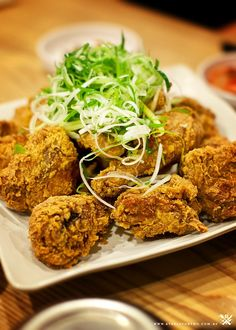Korean Fried chicken with spring onion