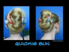 Quickie Bun - Not super pretty, but a fast a effective way for those of the long haired persuasion to get it all up.