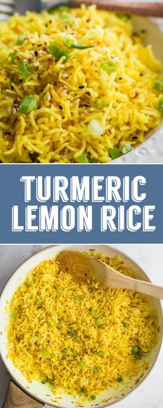Turmeric Lemon Rice- this easy side dish is healthy and easy to throw together. Turmeric Lemon Rice- this easy side dish is healthy and easy to throw together. Its surprisinglyrefreshing and the perfect pairing for any dinner! Source by bfota Rice Side Dishes, Dinner Side Dishes, Side Dishes Easy, Side Dish Recipes, Food Dishes, Vegan Rice Dishes, Hamburger Side Dishes, Indian Side Dishes, Rice Recipes For Dinner