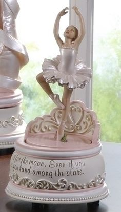 Roman 47438 089945381771 Ballet Collection Joseph's Studio Exclusive Revolving Ballerina Musical Figurine with a Verse Shoot for The Moon Land Among Music Box Ballerina, Little Ballerina, Angelina Ballerina, Ballerina Figurines, Ballerina Costume, Ballerina Party, Antique Music Box, Little Girl Gifts, Swan Lake
