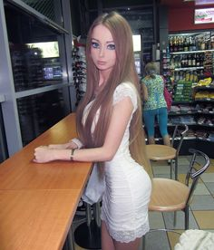 Valeria Lukyanova Russian Barbie Doll the fact that she is evens real person and looks like this is disgusting