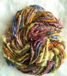 "Bulky Corespun Art Yarn in ""Shaggy Maggy"""