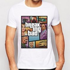5352fdcf 2018 Hot Sales Breaking Bad Characters Printing Men T-Shirt Short Sleeves  Male Basic Tops