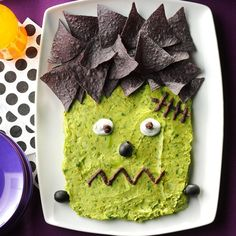 Frankenguac Recipe -Play the mad scientist this year and bring a monster to life. He's frightfully fun and delicious! —Taste of Home Test Kitchen, Milwaukee, Wisconsin