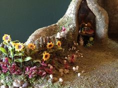 Fairy house tree trunk