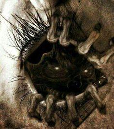 The devil inside eye art, body art tattoos, scary art, arte horror, Arte Horror, Horror Art, The Crow, Creepy Eyes, My Demons, Inner Demons, Creepy Art, Dark Fantasy Art, Eye Art