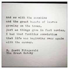 F. Scott Fitzgerald | The Great Gatsby