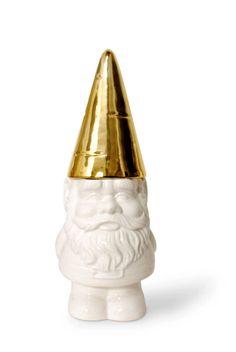 Golden Dome Gnome Container   domino.com