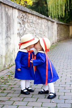 Babies in Madeline costumes