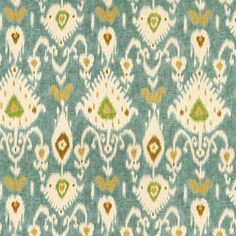 Ballard Designs Balboa Ikat Fabric By The Yard Item: FF016BIK   24 dollars  Could be cool framed for mantle piece - large art or a pillow top