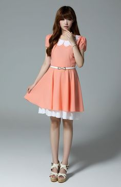 Vivi collar sweet dress