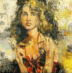 Céline Brossard, 1960   Abstract Mixed media painter   Tutt'Art@   Pittura * Scultura * Poesia * Musica   Celine, Present Day, Mixed Media Art, Mona Lisa, Urban, Portrait, Abstract, Artwork, Painting