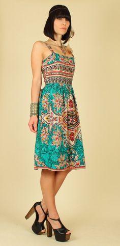 love this batik sundress. hellhoundvintage on etsy.