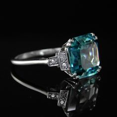 RARE BLUE ZIRCON RING | KAYES JEWELLERS