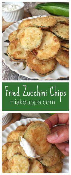 Fried zucchini chips (Tηγανητά κολοκυθάκια) – Famous Last Words Fried Zuccini, Fried Zucchini Chips, Fried Zucchini Recipes, Zucchini Chips Recipe, Healthy Vegetable Recipes, Healthy Meals, Fried Chips, Healthy Eating, Easy Chips