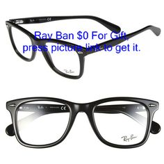 Womens Ray-Ban Icon - Wayfarer 52mm Optical Glasses ( 195) ❤ liked on 7815f46af1