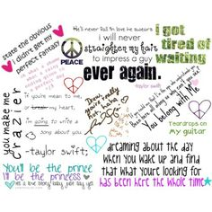 taylor swift quotes:)