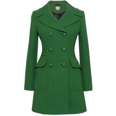 Kaliko green tailored peacoat.