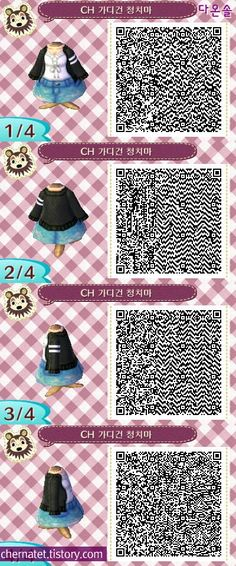 my name is claudia and you can find qr codes for animal crossing here! I also post non qr code related stuff so if you're only here for the qr codes please just blacklist my personal tag. Qr Code Animal Crossing, Animal Crossing Qr Codes Clothes, Animal Games, My Animal, Motif Acnl, Ac New Leaf, Motifs Animal, Happy Home Designer, Doja Cat