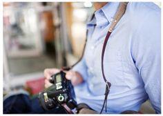 Ona Lima Camera strap - genuine leather and canvas.