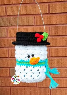 Brighten your path or entry with a cute frosty friend for the holidays. Use as a luminary or container for treats to give to your neighbors.