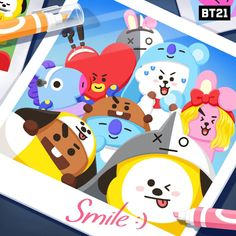 BROWN PIC is where you can find all the character GIFs, pics and free wallpapers of LINE friends. Bts Chibi, Bts Bangtan Boy, Jimin, Bts Gifs, Line Friends, Bts Drawings, Art Memes, I Love Bts, Bts Lockscreen