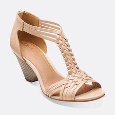 1b880c7e6f3e32 Ranae Monique Nude Leather - Womens Medium Width Shoes - Clarks  110 Emu  Shoes