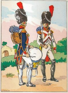 French; Imperial Guard, 3rd(Dutch) Grenadiers a Pied, Drummer, Grande Tenue & Fifer, Petite Tenue 1812
