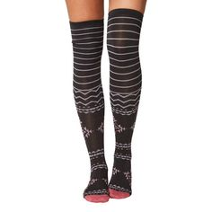 Bo women's soft bamboo over-the-knee socks in pewter | By Thought