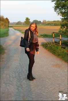 Oberteil: Vero Moda Jacke: Only Tuch: Sonia Rykiel Leggings: Blackmilk Schuhe: H&M Tasche: Michael Kors Ohrringe: Marc by Marc Jacobs