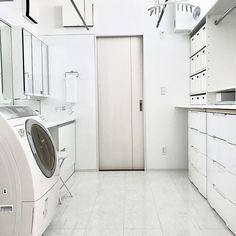 Washroom, Stacked Washer Dryer, Interior Design Kitchen, Laundry Room, Home Appliances, Cabinet, Storage, House, Furniture