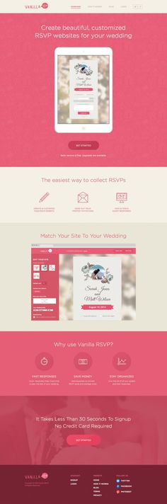 Create free wedding RSVP websites online. Customize your design, upload your pictures. The best way to manage your weddi - Best Webdesign inspiration on www.niceoneilike.com