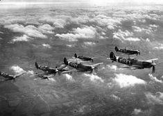 Flight of Spitfires from Biggin Hill
