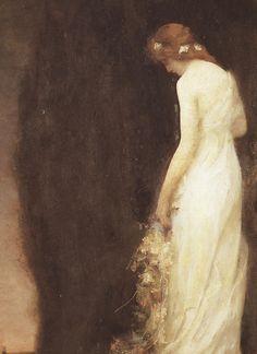 André Gabriel Ferrier - Le soir, 1911 (detail)