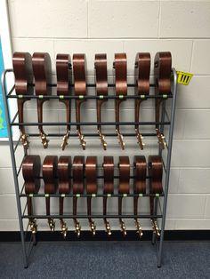 Ukulele Storage Guitar Hooks General Music Clroom Middle