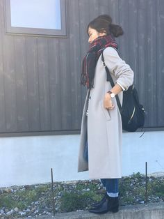 Haru☆さんの「Vネック デザインノーカラーコート◆(IENA)」を使ったコーディネート Duster Coat, Raincoat, How To Wear, Jackets, Outfits, Fashion, Rain Jacket, Down Jackets, Outfit