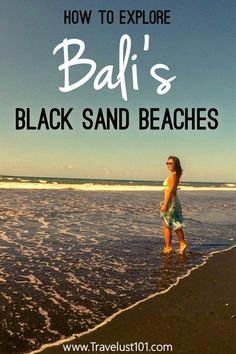 Bali is known for white sand beaches but did you know about volcanic black sand beach in Bali? Bali Travel Guide, Asia Travel, Travel Guides, Travel Tips, Travel Destinations, Travel Advice, Travel Nepal, Work Travel, Beach Vacation Tips
