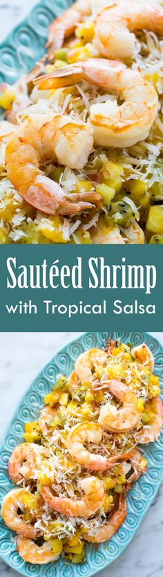 Sautéed Shrimp with Warm Tropical Fruit Salsa ~ Sautéed shrimp ...