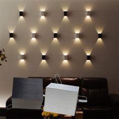 Stilvolle LED Wandlampe Wandleuchte Flurlampe Leuchte treppelampe Warmweiß - All For Decoration