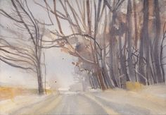 My Arts, Snow, Watercolor, Outdoor, Pen And Wash, Outdoors, Watercolor Painting, Watercolour, Outdoor Games