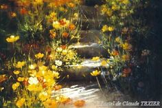 artist Claude Texier, pastel painting done with Girault pastels Pastel Flowers, Pastel Art, Love Flowers, Pastel Landscape, Landscape Paintings, Floral Paintings, Mellow Yellow, Pictures To Paint, Fantasy World