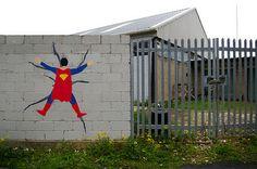 Marvel y DC Comics en el arte urbano : Distorsion Urbana
